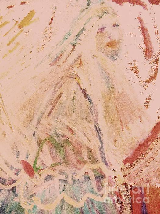 Deborah Montana Painting - The Lily Who Waits by Deborah Montana
