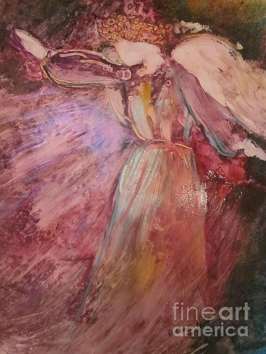 Angel Painting - The Messenger by Deborah Nell