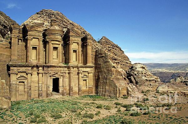 Spirituality Photograph - The Monastery Ad Dayr At Petra by Sami Sarkis