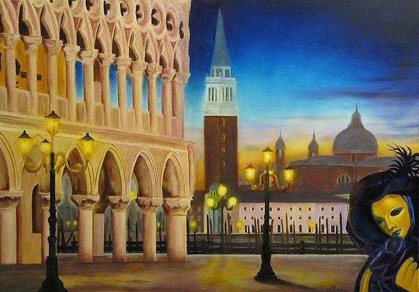 Architecture Painting - The Night Comes.... The Madness Begins. by Antonios Theodosiou