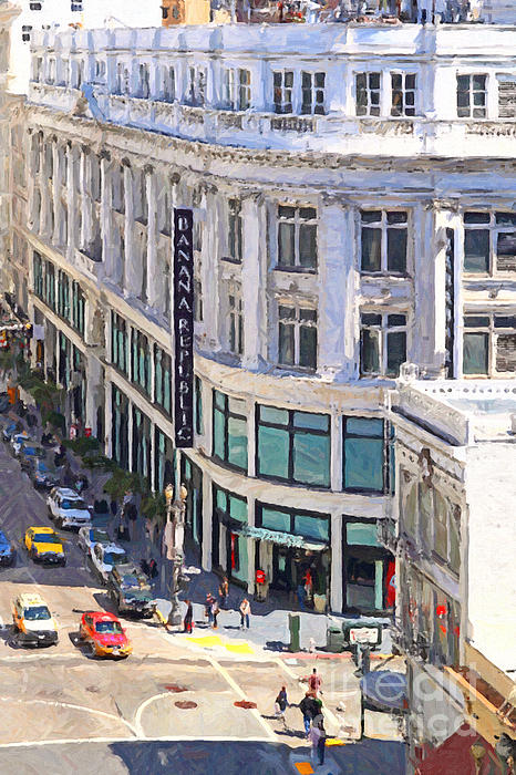 San Francisco Photograph - The Old Alfred Hitchcock Vertigo White House Department Store Now Banana Republic Department Store by Wingsdomain Art and Photography