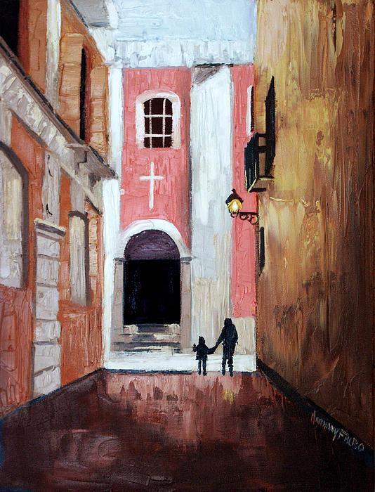 The Open Door Painting - The Open Door by Anthony Falbo