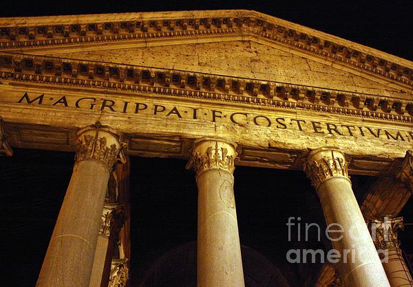 Pantheon Photograph - The Pantheon At Night by Kent Nickell