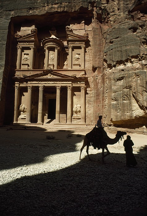 Petra Photograph - The Pharaohs Treasury Or Khazneh by James L. Stanfield