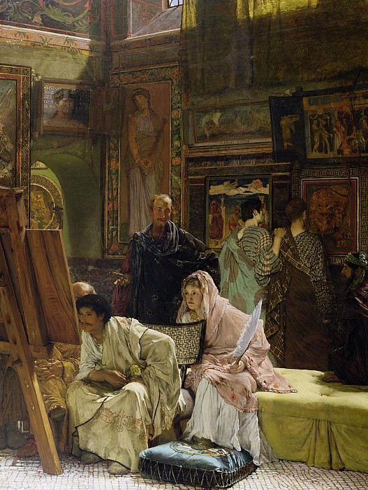 The Painting - The Picture Gallery by Sir Lawrence Alma-Tadema