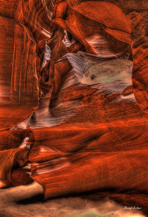 Rock Photograph - The Place Where Water Runs Through Rocks by Darryl Gallegos