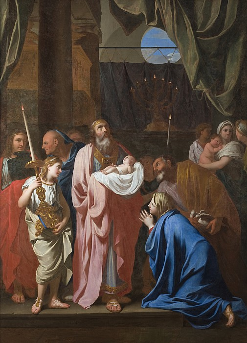 The Painting - The Presentation Of Christ In The Temple by Charles Le Brun