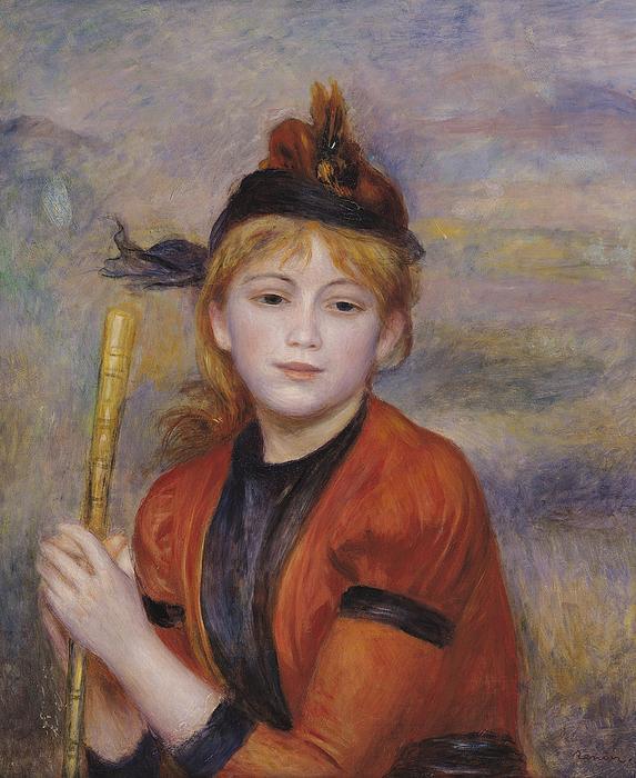 Rambling Painting - The Rambler by Pierre Auguste Renoir