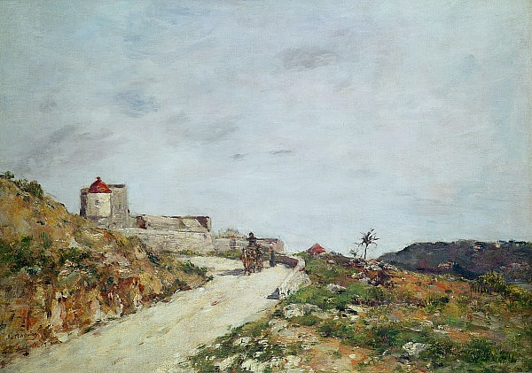 The Painting - The Road To The Citadel At Villefranche by Eugene Louis Boudin