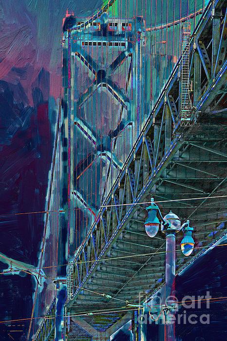 San Francisco Photograph - The San Francisco Oakland Bay Bridge by Wingsdomain Art and Photography