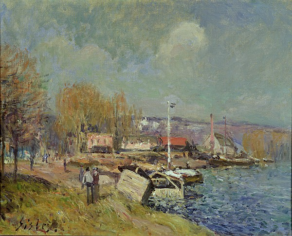 The Painting - The Seine At Port-marly by Alfred Sisley