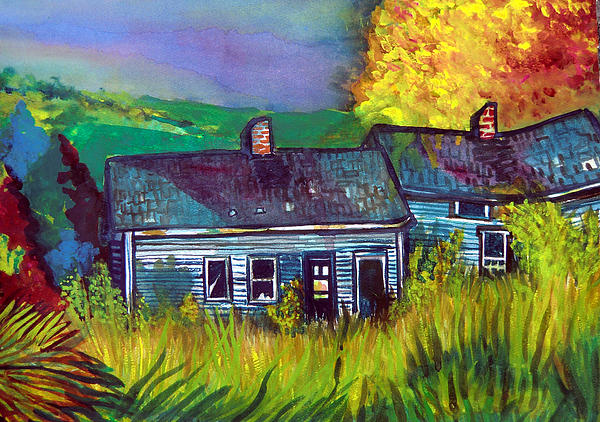 Shack Painting - The Shack by Mindy Newman