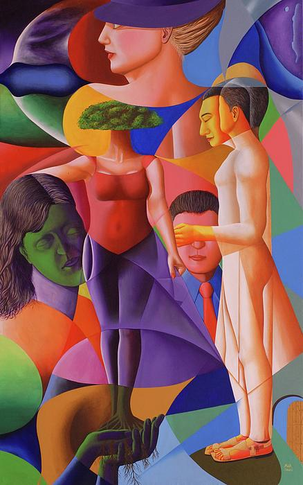 Figures Painting - The Shadow by MAK Muhammad Arshad Khan