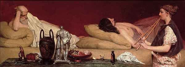 The Painting - The Siesta by Sir Lawrence Alma-Tadema
