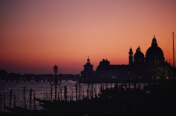 Map Of The World Photograph - The Skyline Of Venice Silhouetted by Nicole Duplaix