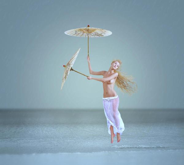 Rain Digital Art - The Snowflake Dreamer by Caras Ionut
