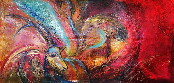 Original Painting - The Spirit Of Ein Gedi by Elena Kotliarker