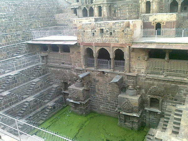Archeological Place Of Tourist Interest  Pyrography - The Step Well by Archana Saxena