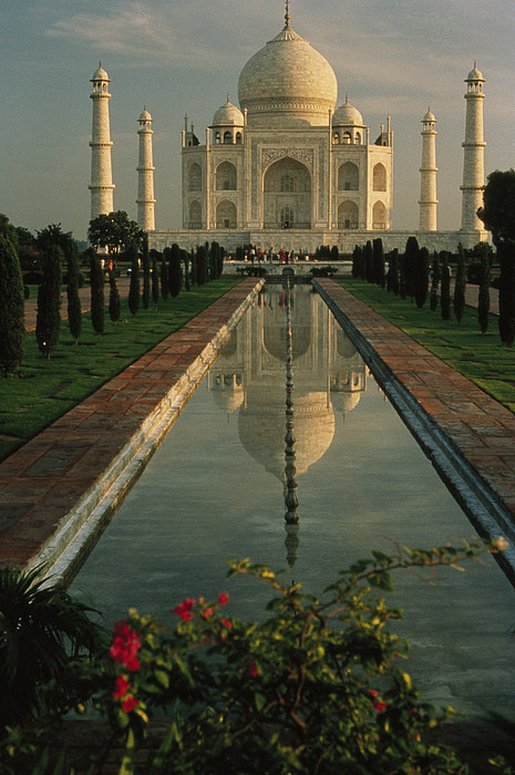 Asia Photograph - The Taj Mahal With A Reflection by Ed George