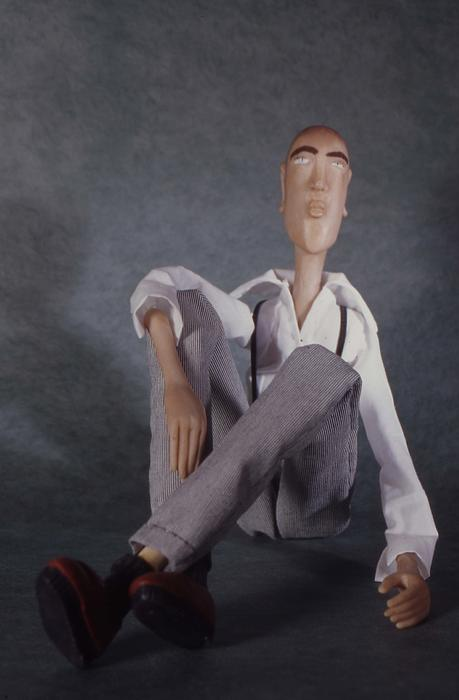 Art Doll Sculpture - The Tall Guy by Catherine Carr