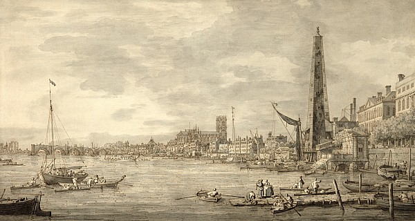 The Photograph - The Thames Looking Towards Westminster From Near York Water Gate  by Giovanni Antonio Canaletto