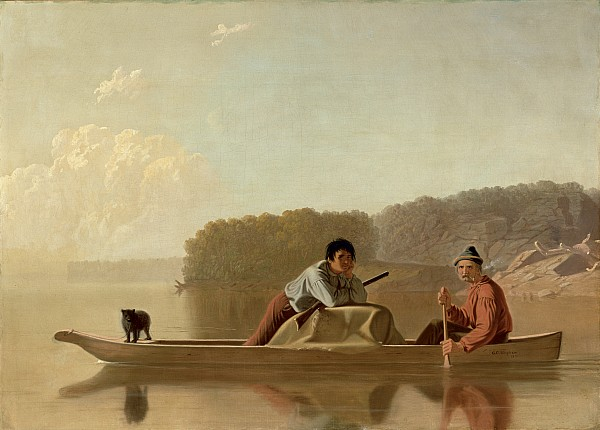 The Painting - The Trappers Return by George Caleb Bingham