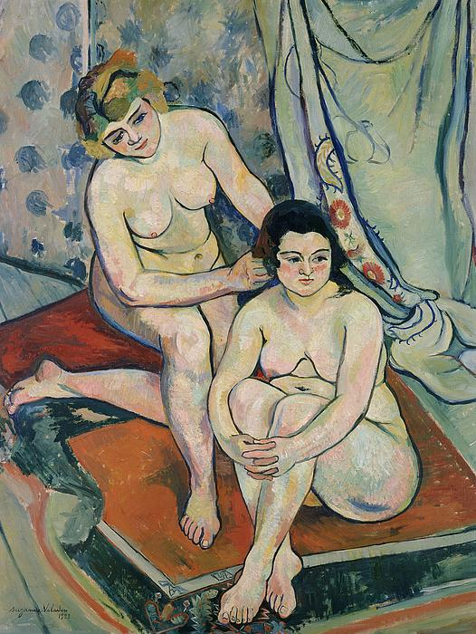 2 Painting - The Two Bathers by Marie Clementine Valadon