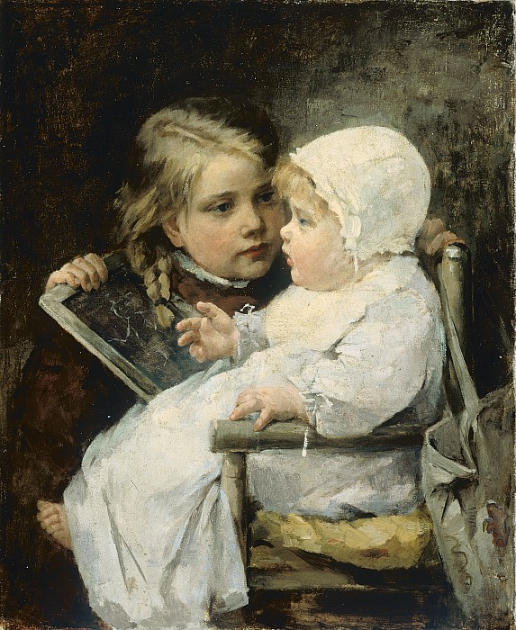 The Painting - The Young Artist by Ellen Kendall Baker