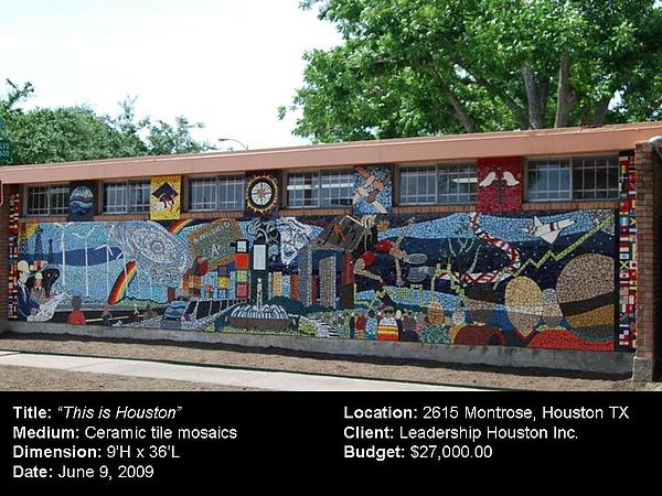 Ceramic Art - This Is Houston by Reginald Charles Adams