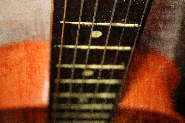 Close Up Photograph - This Old Guitar by Martina Fagan