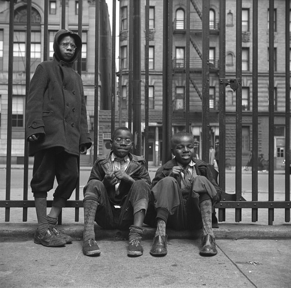 History Photograph - Three African American Boys In Harlem by Everett