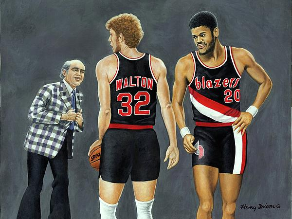 Sports Painting - Three Champs by Henry Frison