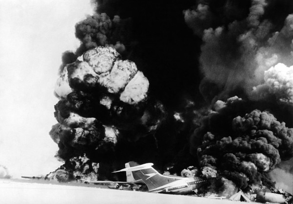 History Photograph - Three Hijacked Airliners Were Blown by Everett