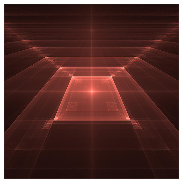 Digital Digital Art - Tiled Squares II by David Rose
