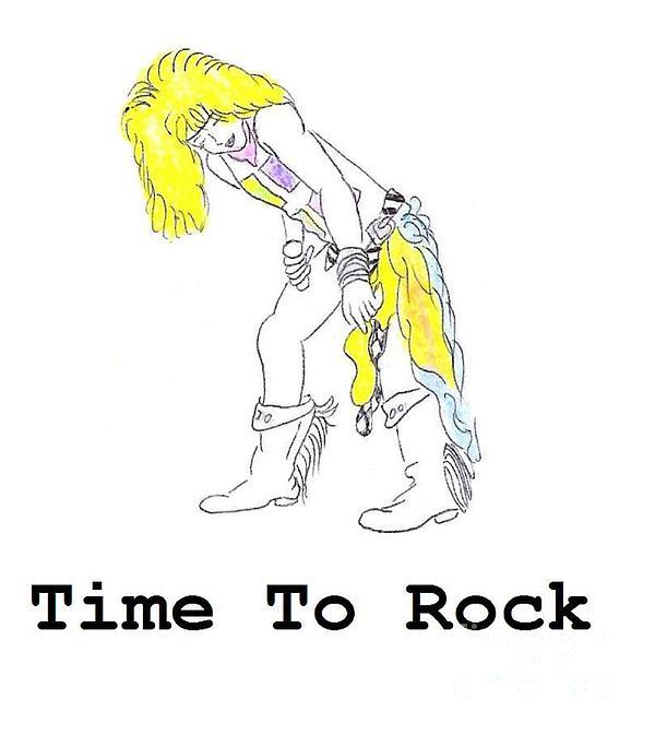 Rock N Roll Drawing - Time To Rock by Jeannie Atwater Jordan Allen