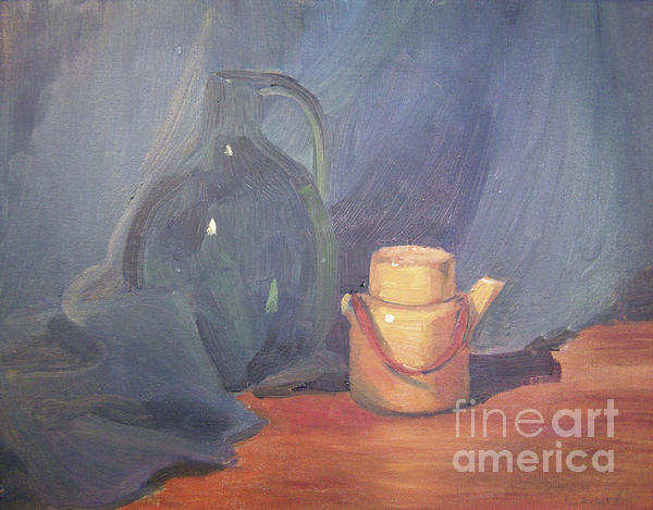 Still Life Painting - Tiny Tea by Lilibeth Andre