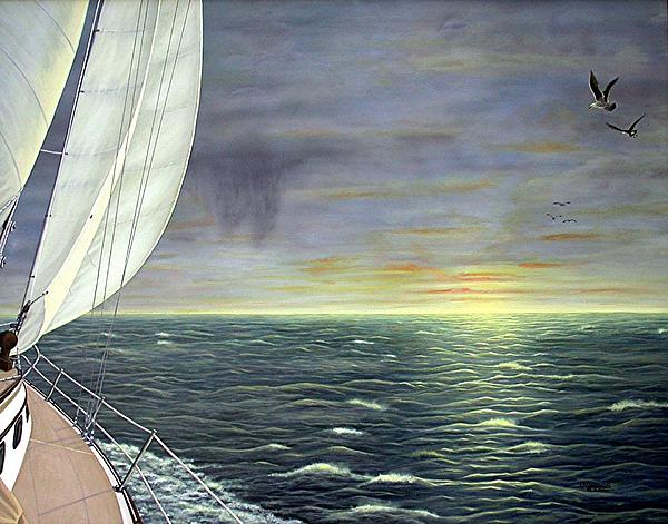 Water Painting - To The Breaking Sky by Jim Ziemer