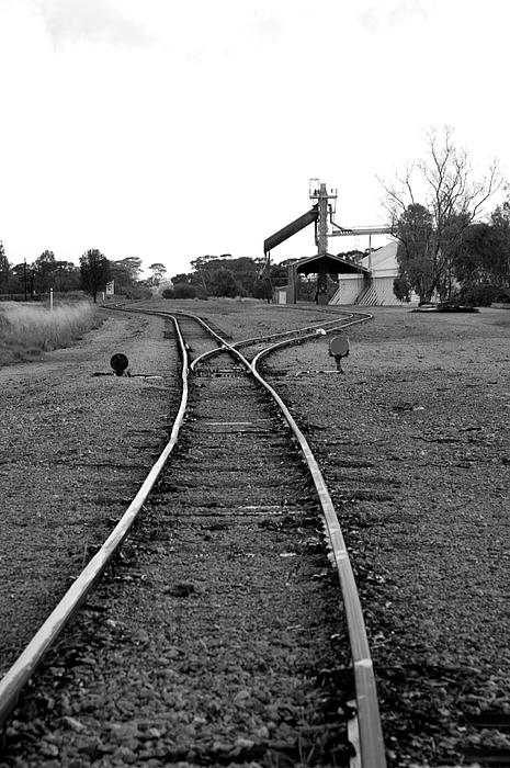Railway Tracks Photograph - To The Siding by Lee Stickels