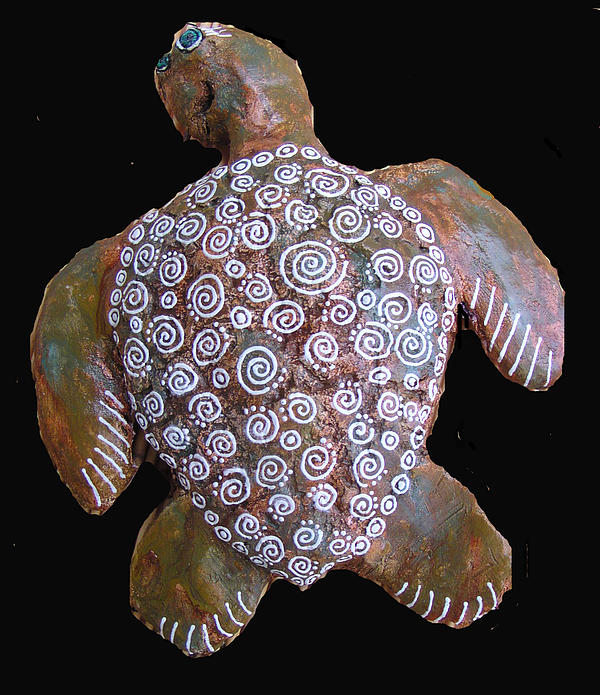 Turtle Sculpture - Toni The Turtle by Dan Townsend