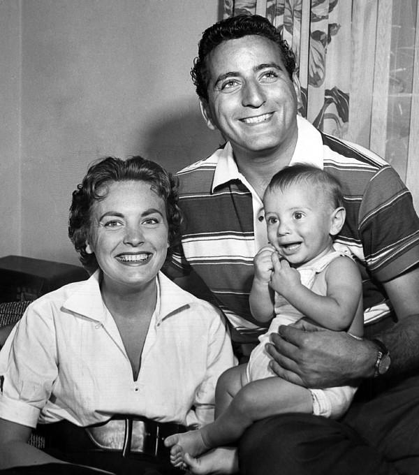 1950s Candids Photograph - Tony Bennett, Wife Patricia, Son by Everett