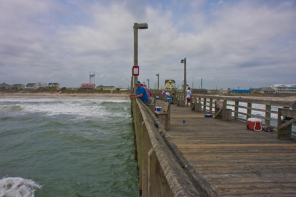 Topsail Photograph - Topsail Island Sc Pier by Betsy Knapp