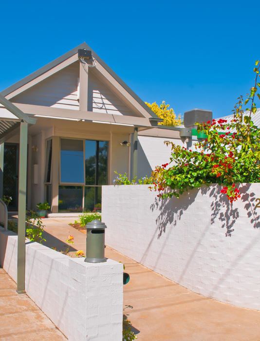Aus Photograph - Townhouse In The Sun by Paul Donohoe