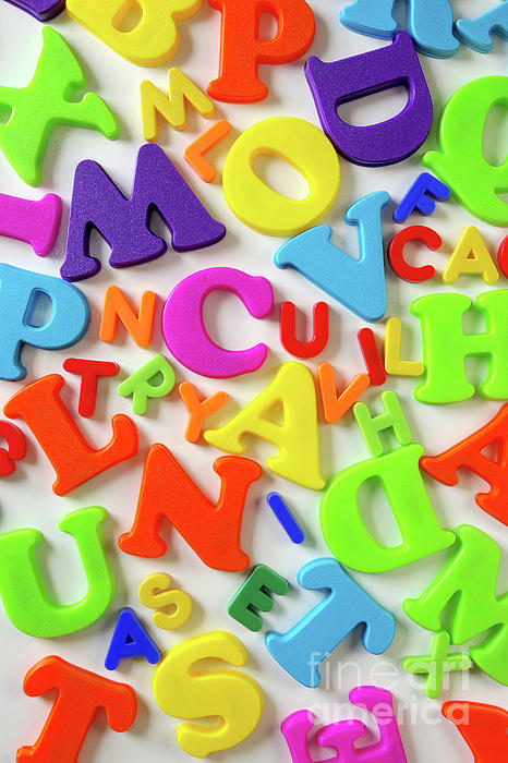 Abc Photograph - Toy Letters by Carlos Caetano