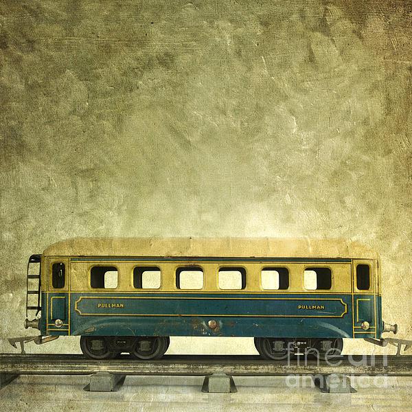 Close Up Photograph - Toy Train by Bernard Jaubert