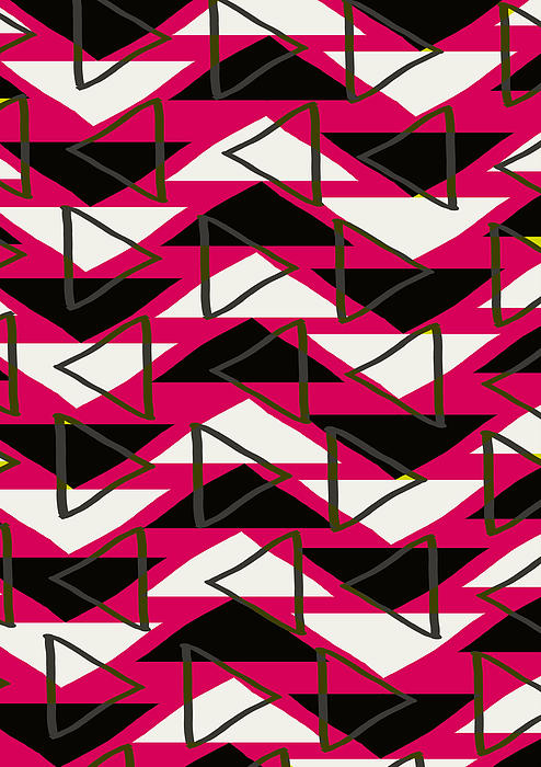 Louisa Digital Art - Triangles by Louisa Knight