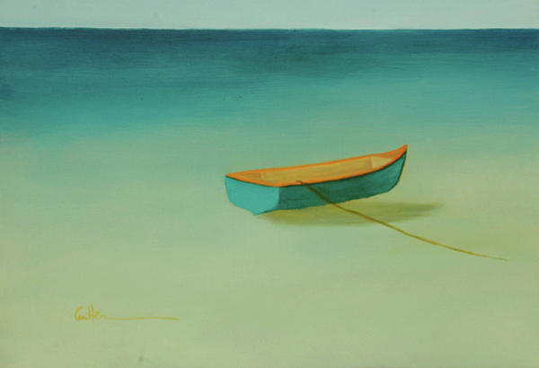 Water Painting - Tropical Calm by Diane Cutter