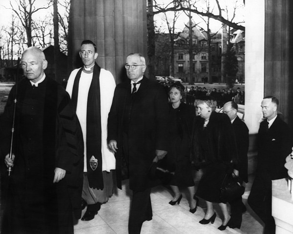 1950s Photograph - Truman Presidency. From Left Cathedral by Everett
