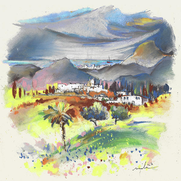 Spain Painting - Turre In Spain 03 by Miki De Goodaboom