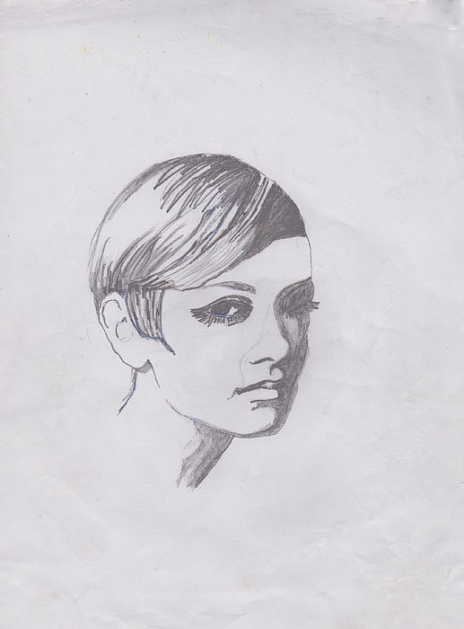 Drawing Photograph - Twiggy by Marie Hough