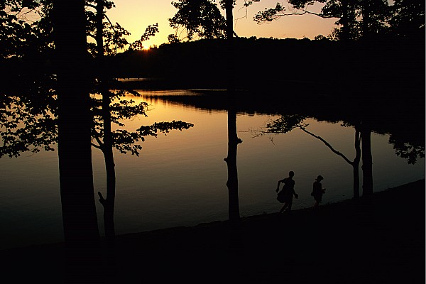 Subject Photograph - Twilight Over Walden Pond, Made Famous by Tim Laman